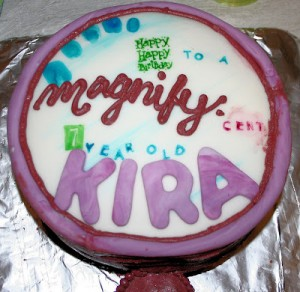 Nancy Drew Party–Magnifying Glass Cake