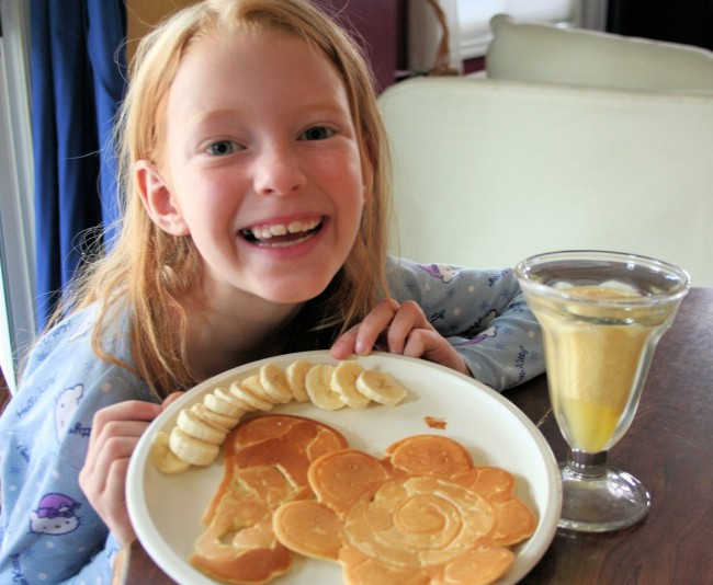 shaped pancake breakfast