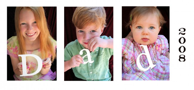 dad kids letter photo collage