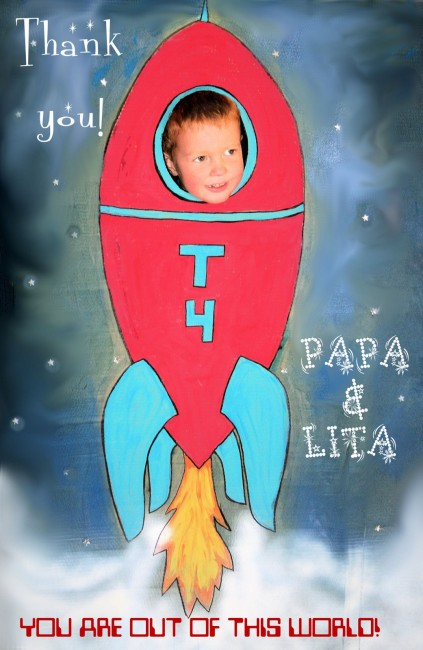 Rocketship photo booth