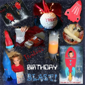 Rocket space birthday