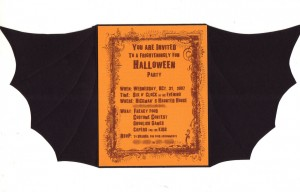bat halloween invitation