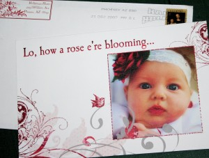 Christmas Rose card 2007