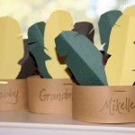 Thanksgiving Table, kid-friendly place cards