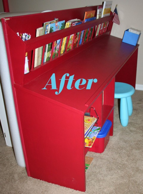 Childrens desk makeover
