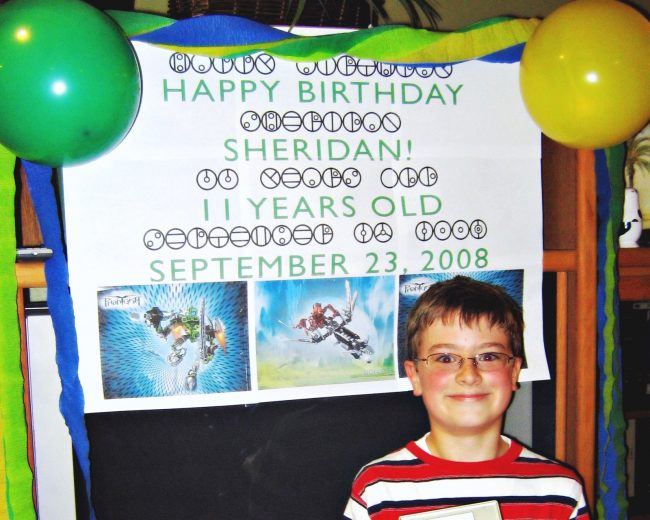 Bionicle birthday sign