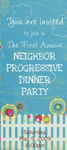 Won't You Be My Neighbor–Progressive Dinner Party