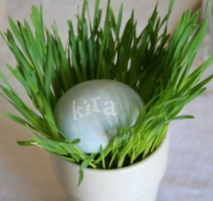 easter egg placecard