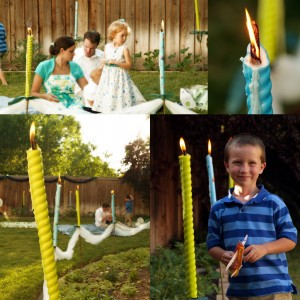 Fun Summer wedding outdoors