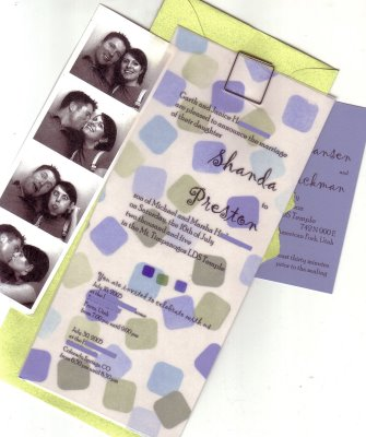 photostrip wedding invitation