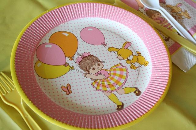 vintage birthday plates