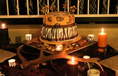 wild animal print cake