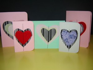 sewn Valentines Cards