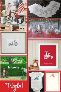 tricycles shower inspiration board