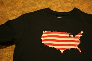 DIY 4th of July t-shirts