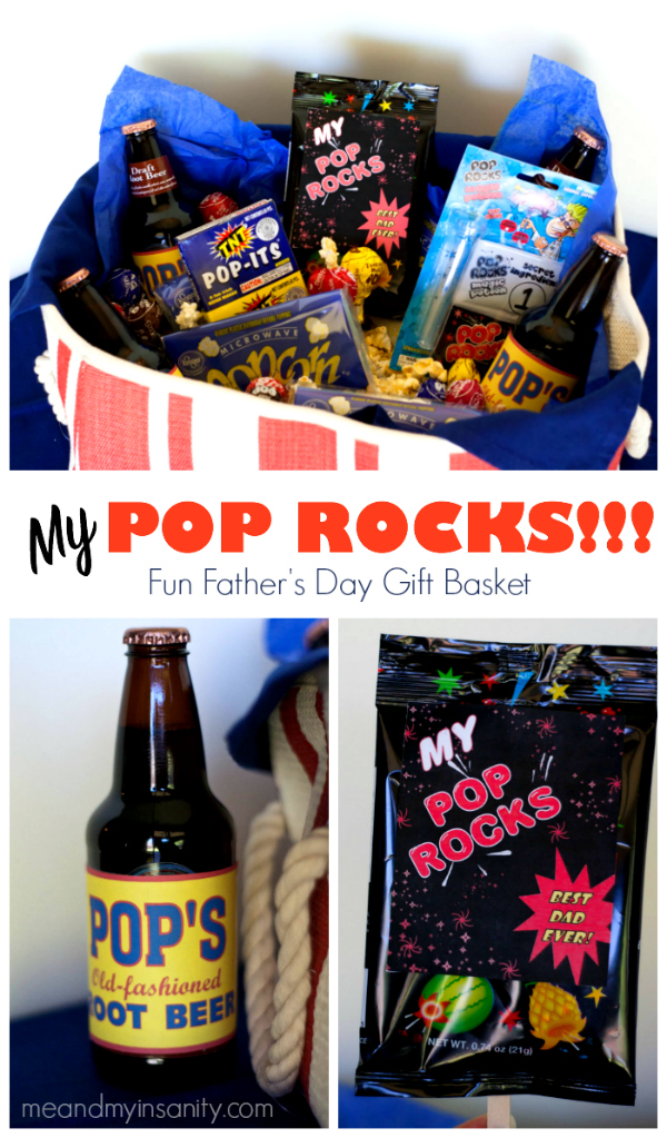 My Pop Rocks Gift Basket Fathers Day