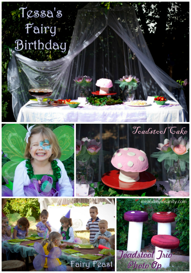 Fairy Birthday Party Collage