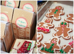 Gingerbread families in houses
