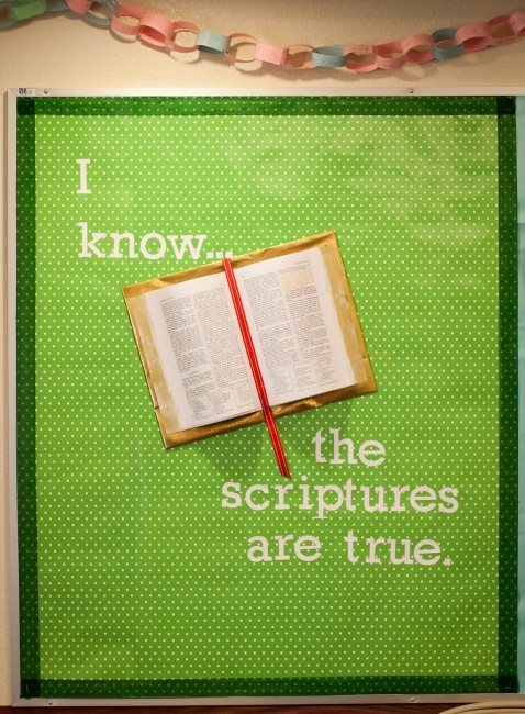 I Know the Scriptures are True 3D Bulletin Board Primary
