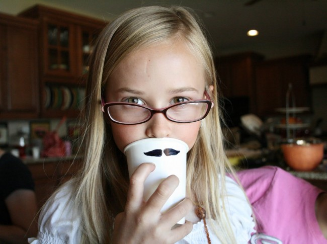 Father's Day mustache cups 2