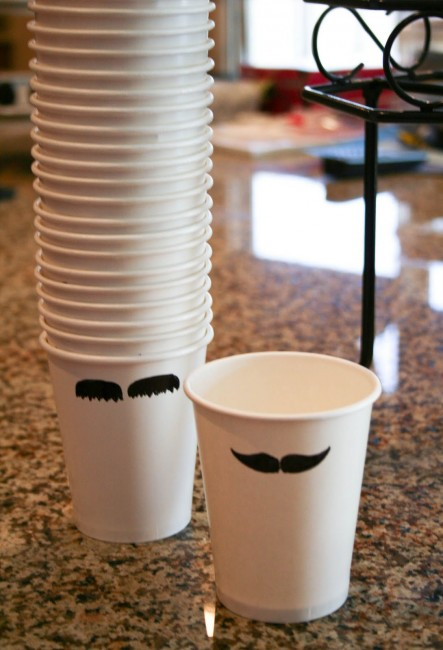 Father's Day mustache cups