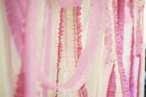 pink ruffled crepe paper