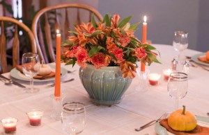 Thanksgiving 2011 Teal and Orange