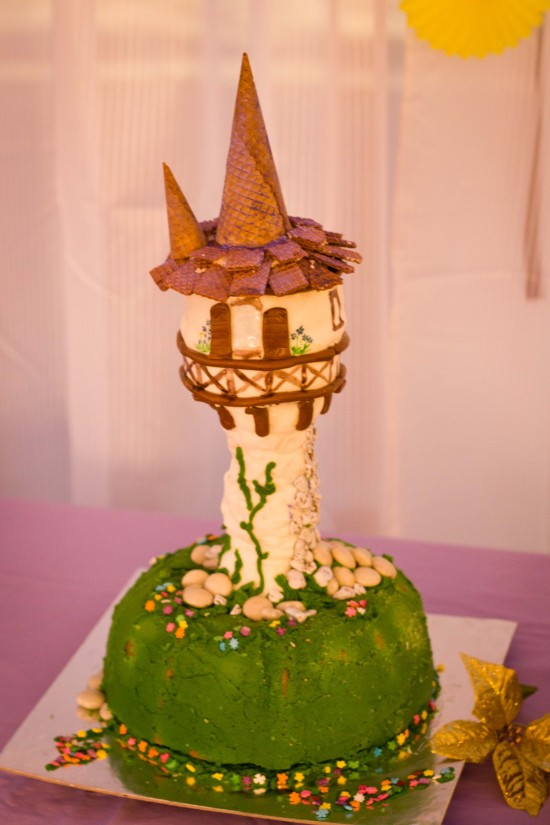 rapunzels tower cake