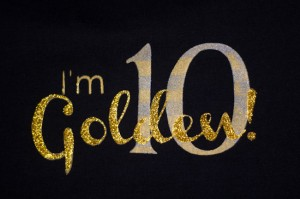 DIY Silk Screen shirt Golden birthday