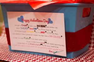 Valentine's Snack Gift Basket with Printable Poem