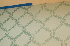 How to Stencil a Wall (the crazy way)
