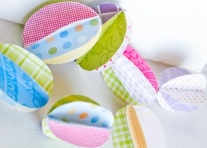3D Paper Easter Egg Garland