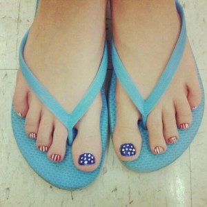 patriotic pedicure