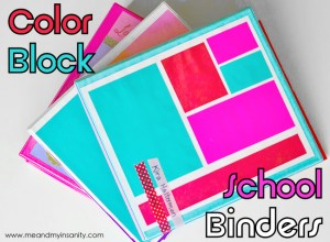 Color Block School Binders