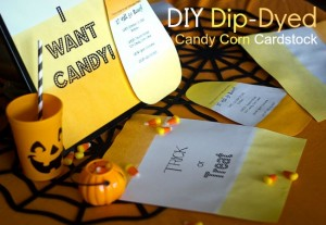 DIY Dip-Dyed Candy Corn Cardstock