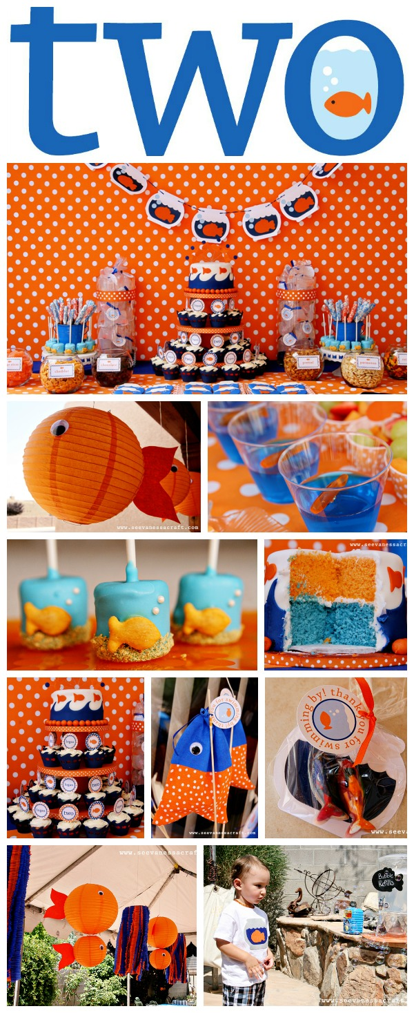 Goldfish birthday collage 600