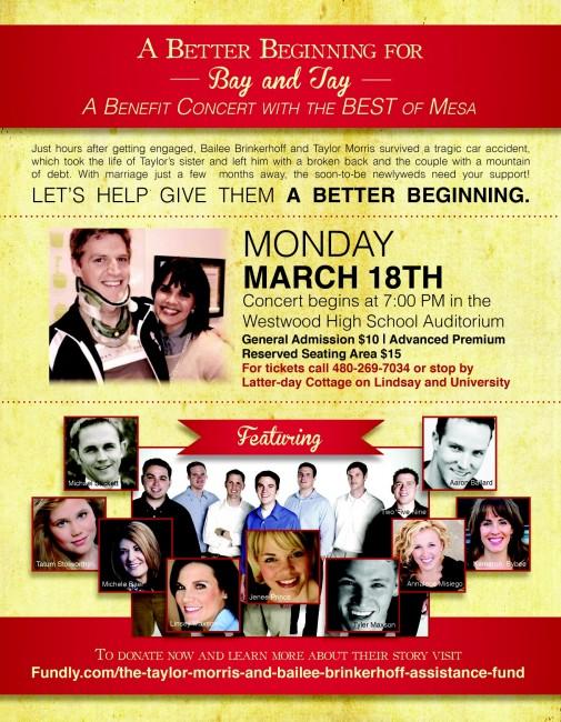 Benefit Concert flier