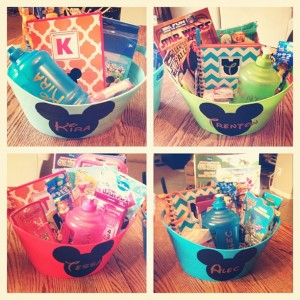 Disney Travel Baskets