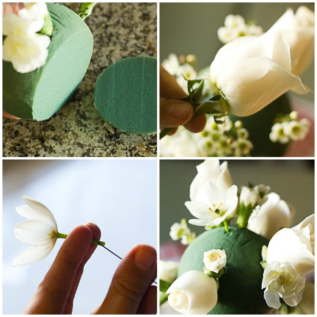 Working with floral foam