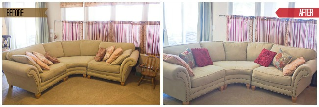 Before and After Couch