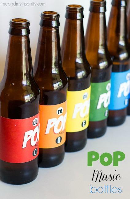 Pop Bottle Music Labels Title Pinterest