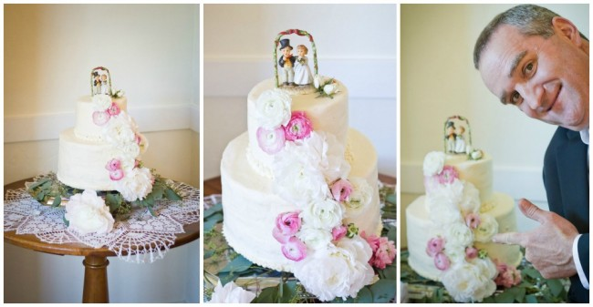 vintage topper wedding cake