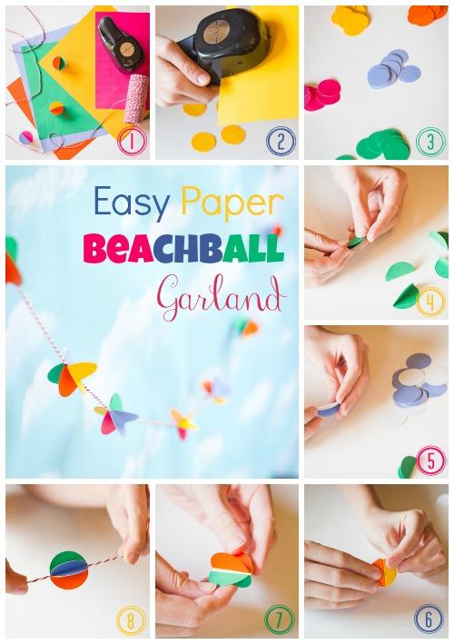 Easy Paper Beachball Garland