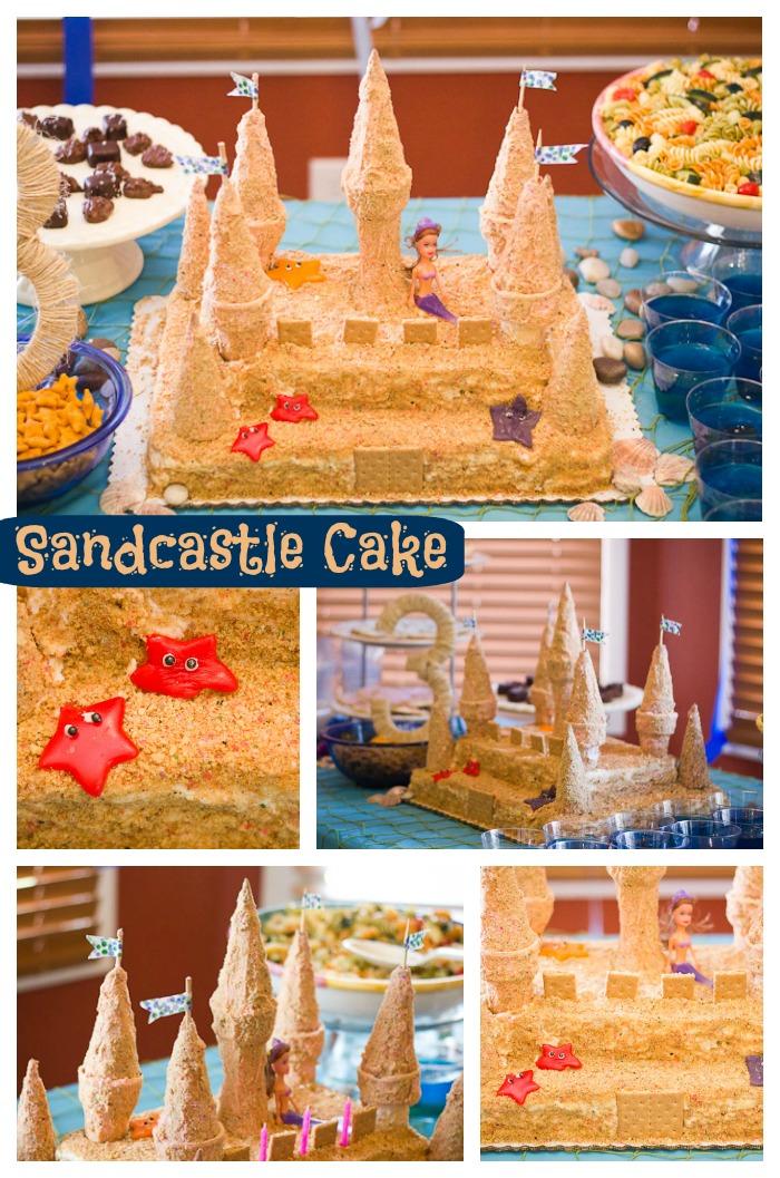 Sandcastle cake title