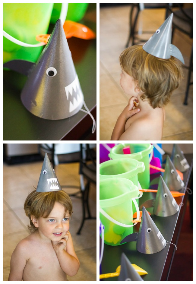 Shark Party hat DIY