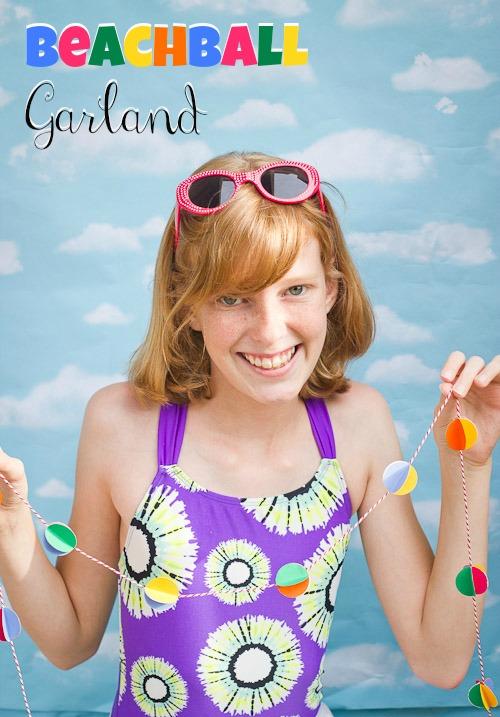 beachball garland title