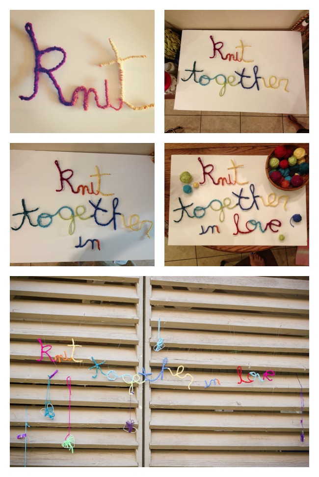 knit together in love yarn art