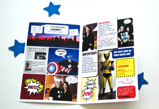 Comic Book Superhero Invitation
