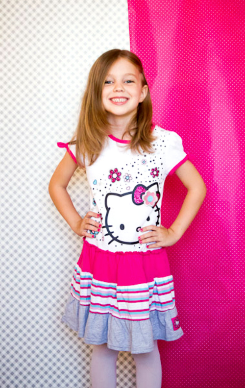 Hello Kitty Fashion for girls Kukee striped dress