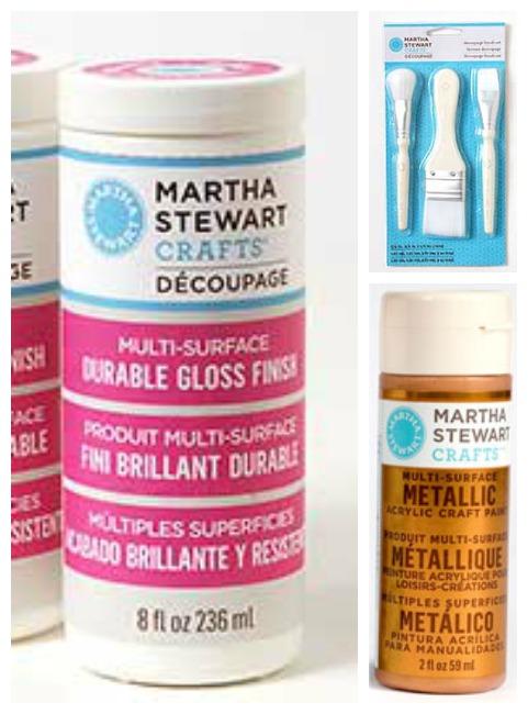 Martha Stewart Decoupage supplies